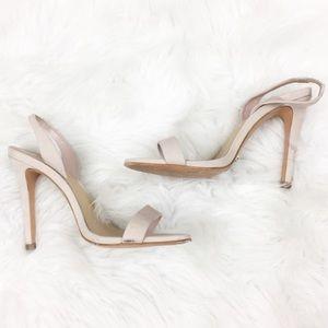 SCHUTZ | Blush Ankle Strap Heels